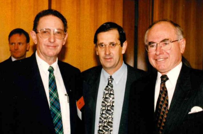 Eric Trezise with John Howard, PM.
