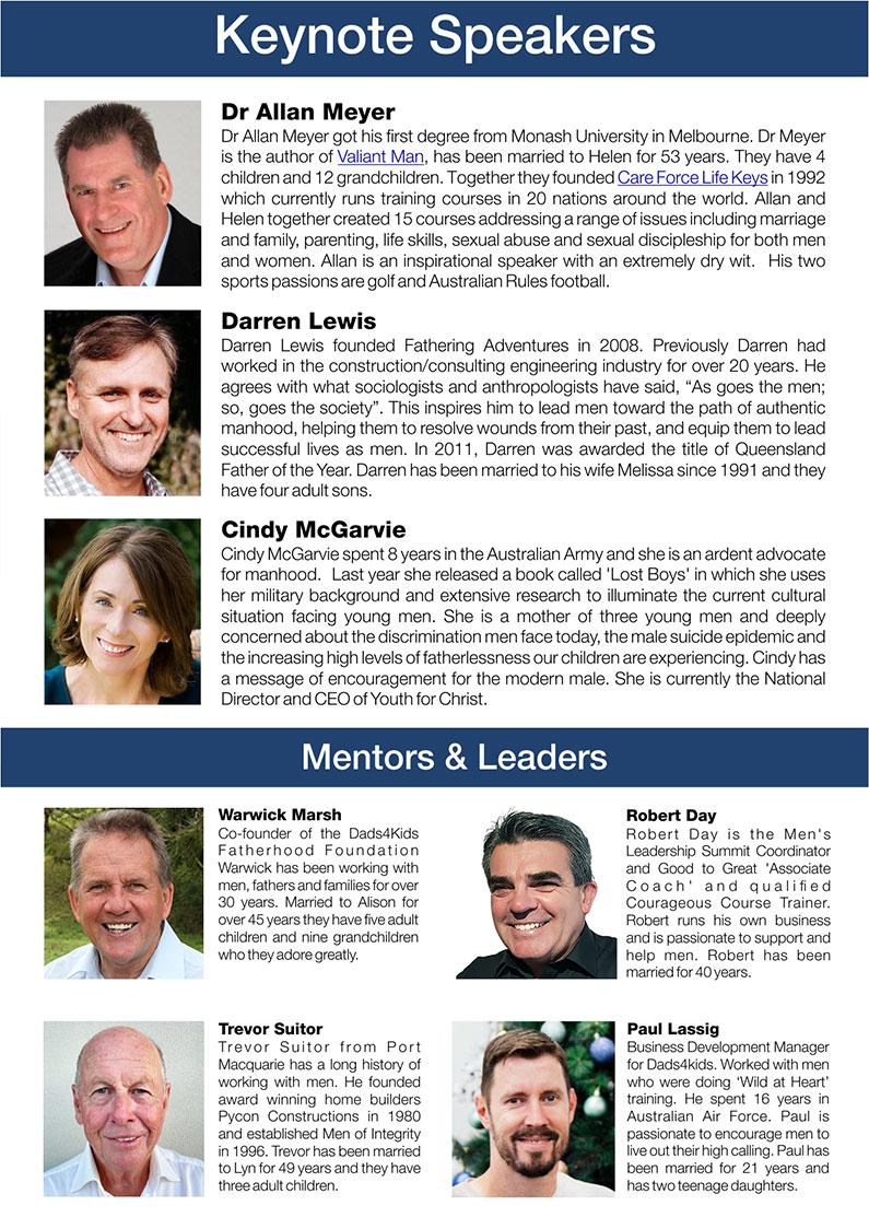 Men's Leadership Summit 2021 speakers