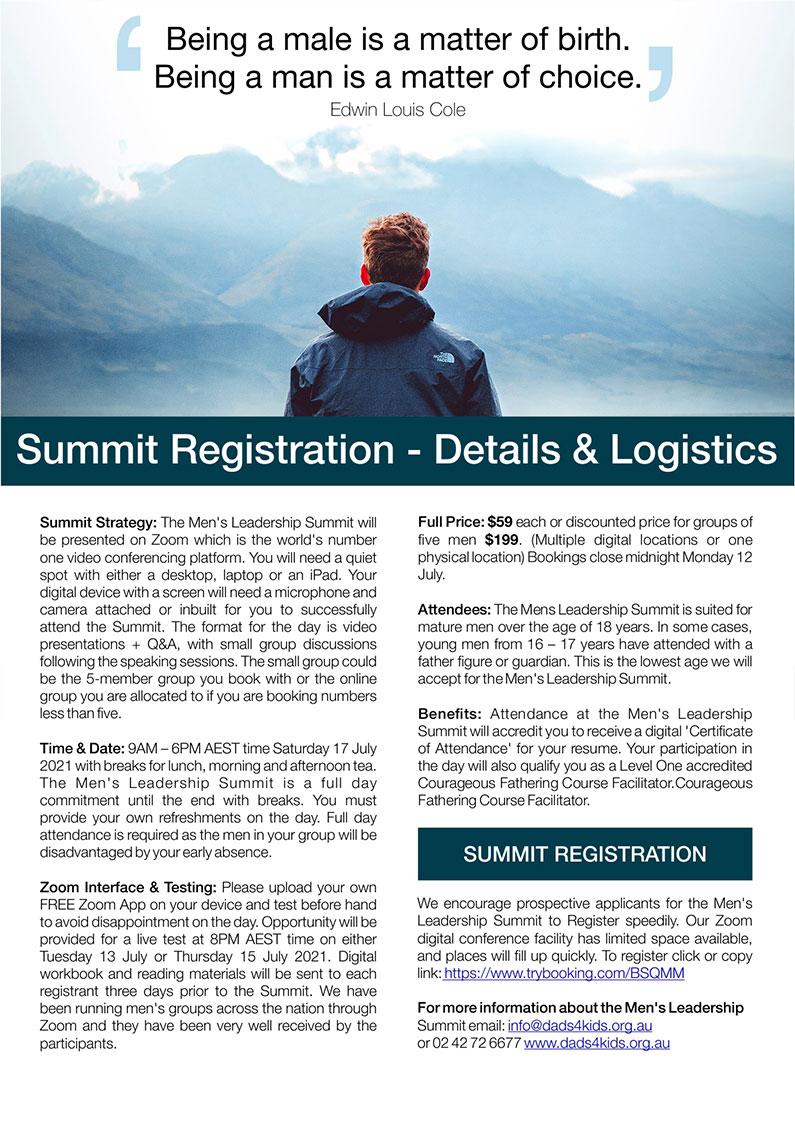 Men's Leadership Summit register